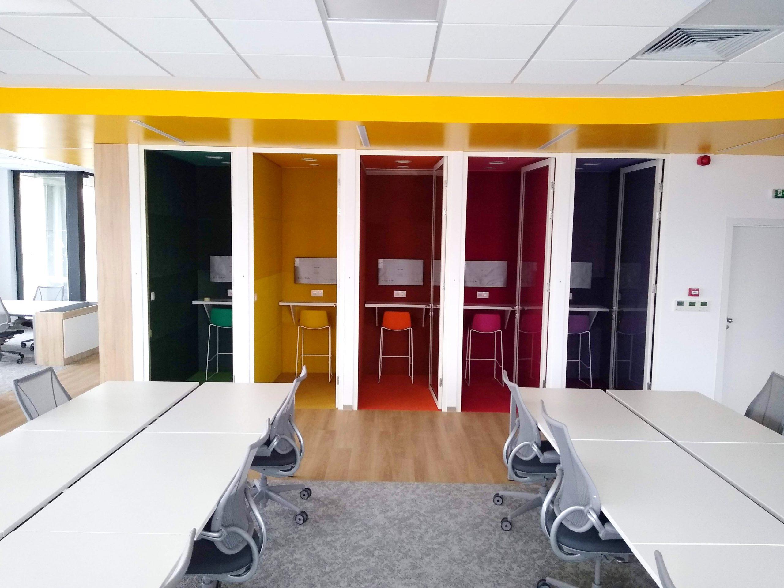 Agile office phone booths