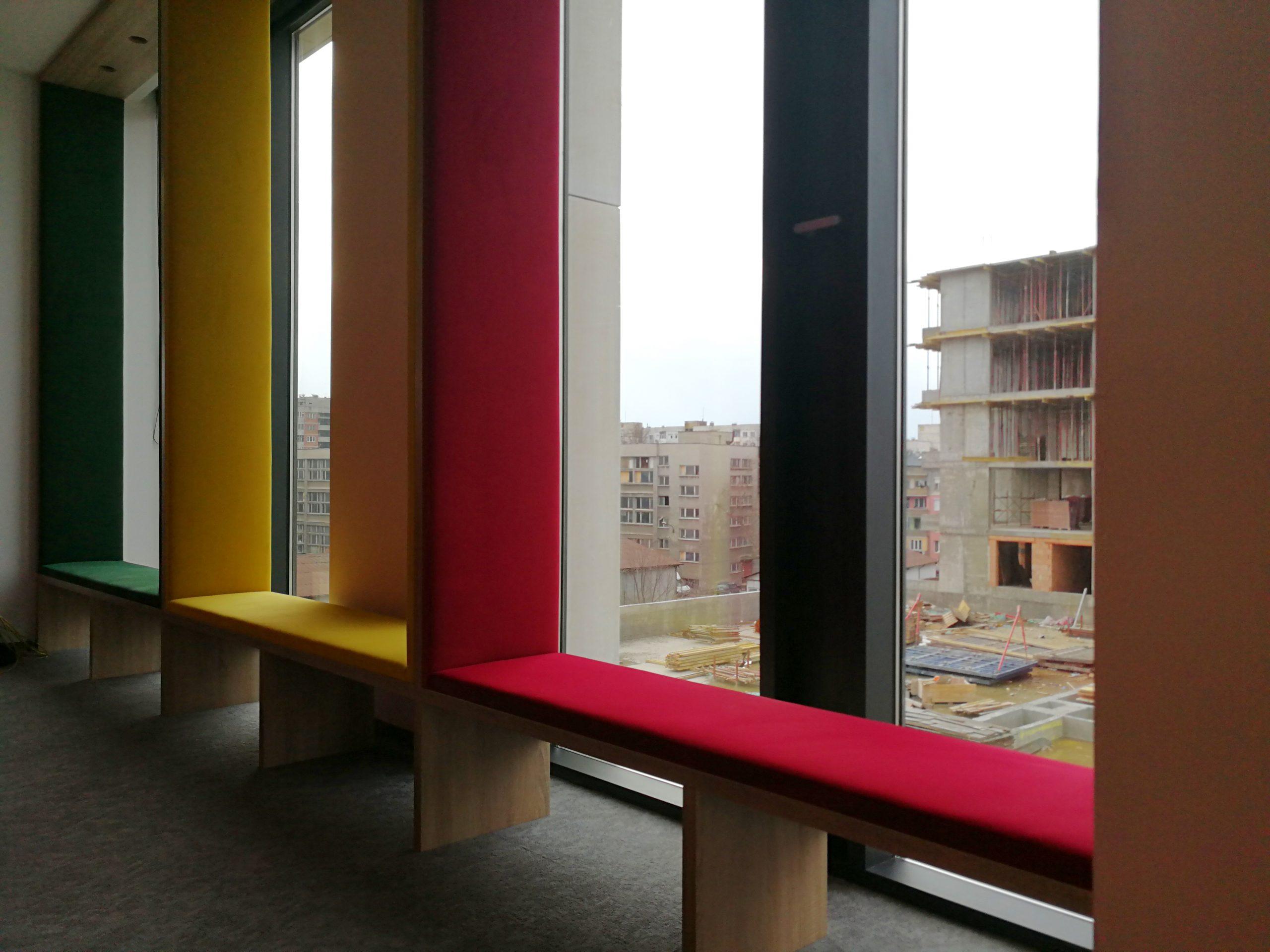 Windows seating area