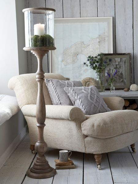 Vintage armchair book nook